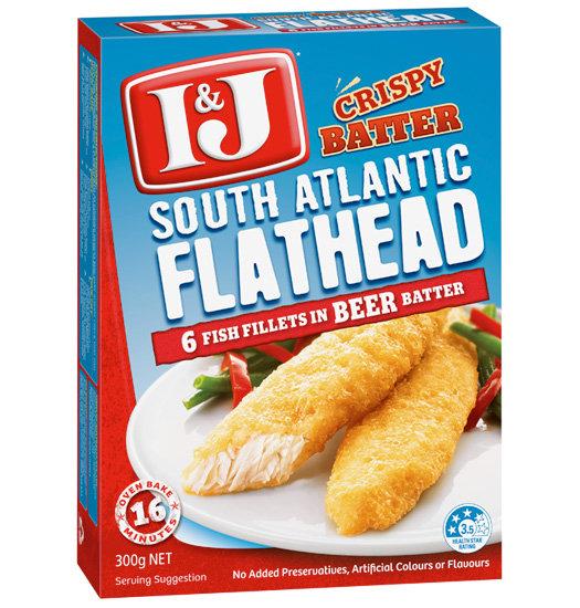 Crispy battered South Atlantic Flathead